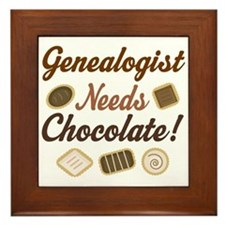 Genealogist Chocolate Gift Framed Tile