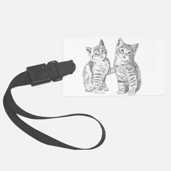 Tabby kittens Luggage Tag