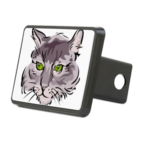 Cat Face Rectangular Hitch Cover