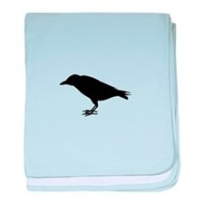 crow silhouette baby blanket