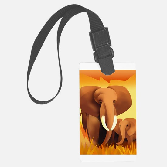 Elephants Luggage Tag