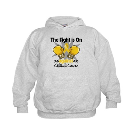 Fight On Childhood Cancer Kids Hoodie