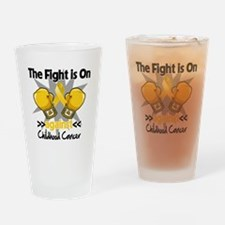 Fight On Childhood Cancer Drinking Glass