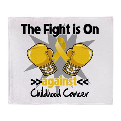Fight On Childhood Cancer Throw Blanket