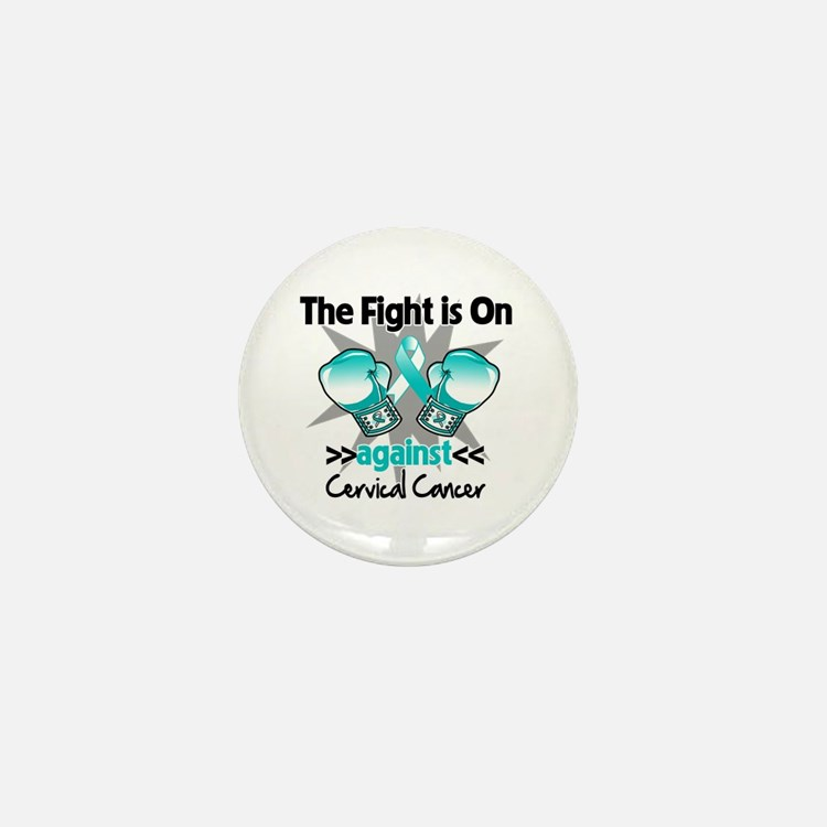 Fight On Cervical Cancer Mini Button