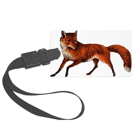fox Large Luggage Tag