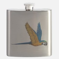 Flying Macaw Parrot Bird Flask