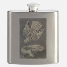 Gyrfalcon art Flask