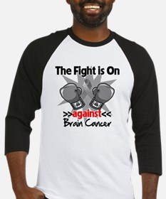 The Fight is on Brain Cancer Baseball Jersey