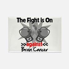 The Fight is on Brain Cancer Rectangle Magnet
