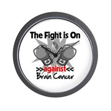 The Fight is on Brain Cancer Wall Clock
