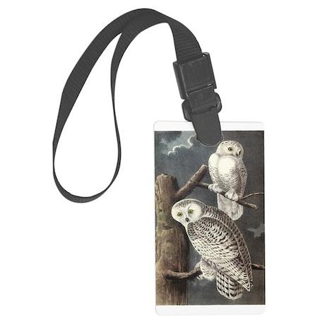 Snowy Owls Large Luggage Tag