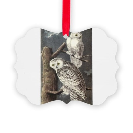 Snowy Owls Picture Ornament