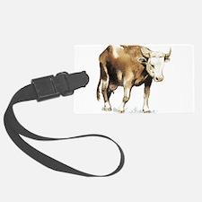 bull drawing Luggage Tag