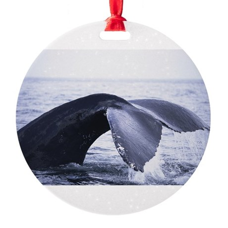 whales tail Round Ornament