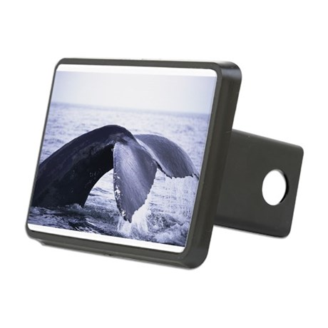 whales tail Rectangular Hitch Cover