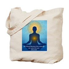 Ghandi quote Tote Bag