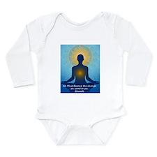 Ghandi quote Long Sleeve Infant Bodysuit