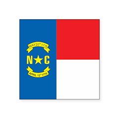 North Carolina Square Sticker 3
