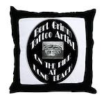 Bert Grimm Tattoo Artist Throw Pillow