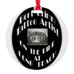 Bert Grimm Tattoo Artist Round Ornament