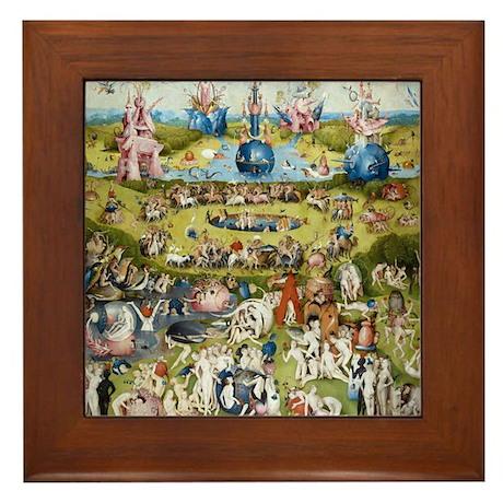 Bosch The Garden of Delights Framed Tile