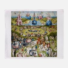 Bosch The Garden of Delights Throw Blanket
