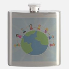 Kids Holding Hands Flask