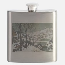Hunters in the Snow Flask