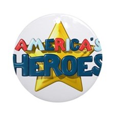 America's Heroes Ornament (Round)
