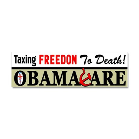 """""""Taxing Freedom To Death!"""" Car Magnet"""