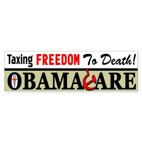 """""""Taxing Freedom To Death!"""" Sticker (Bump"""