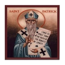 Saint Patrick Tile Coaster