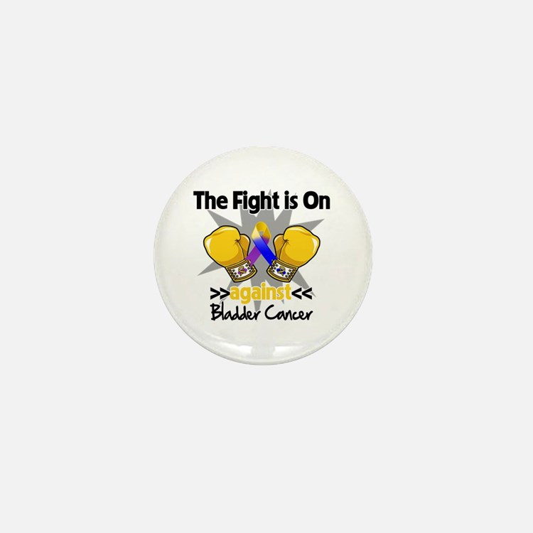 Fight is On Bladder Cancer Mini Button