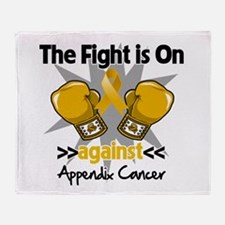 Fight is On Appendix Cancer Throw Blanket