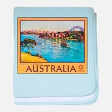 Australia Travel Poster 10 baby blanket