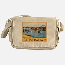 Australia Travel Poster 10 Messenger Bag