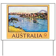 Australia Travel Poster 10 Yard Sign