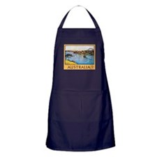 Australia Travel Poster 10 Apron (dark)