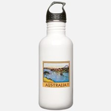 Australia Travel Poster 10 Sports Water Bottle