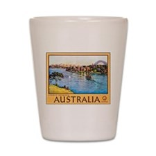 Australia Travel Poster 10 Shot Glass