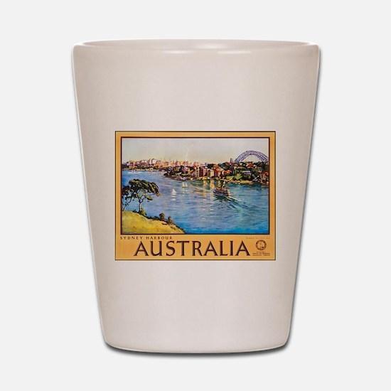Australia Travel Poster 10 Shot Glass