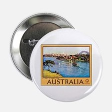 "Australia Travel Poster 10 2.25"" Button"