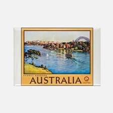 Australia Travel Poster 10 Rectangle Magnet