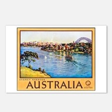 Australia Travel Poster 10 Postcards (Package of 8