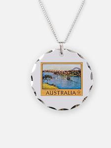 Australia Travel Poster 10 Necklace