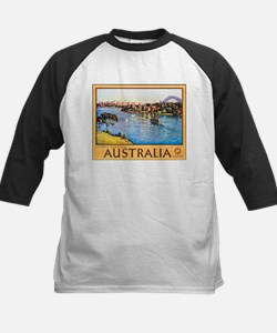 Australia Travel Poster 10 Kids Baseball Jersey