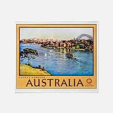 Australia Travel Poster 10 Throw Blanket