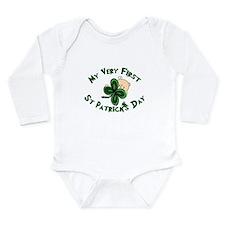 st patricks shamrock baby Body Suit