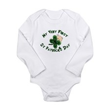 st patricks shamrock baby Body Suit